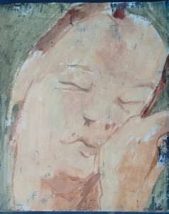 As Soft as Sleep, 2015 oil on board, 23 x 20 cms